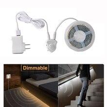 FIRECORE DC12V LED רצועת Motion חיישן אור אוטומטי ON/OFF גמיש LED אור 1M 2M 4M עבור מיטת אור עם אספקת חשמל