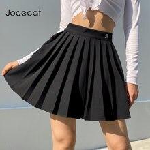 Jocecat белая однотонная плиссированная юбка для женщин Элегантный