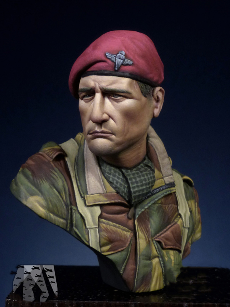 1/16 Resin Bust Model Kit British Red Devils Paratroopers Ww2 Unpainted XX85D