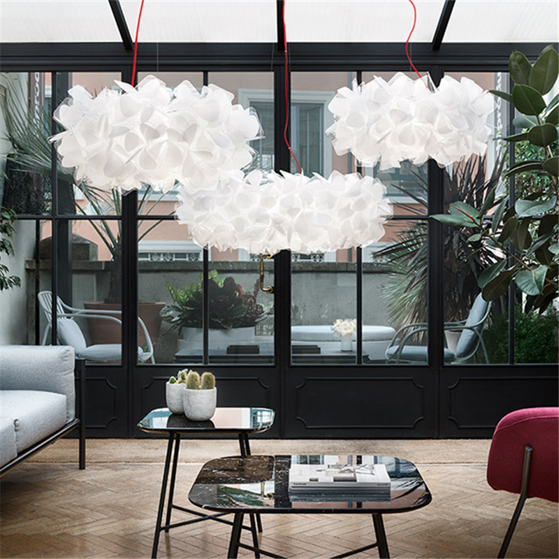 Italy Slamp A Living Room Lamp Northern Europe Ins Modern Concise Restaurant Bedroom Cozy Romantic Lace Petal A Chandelier