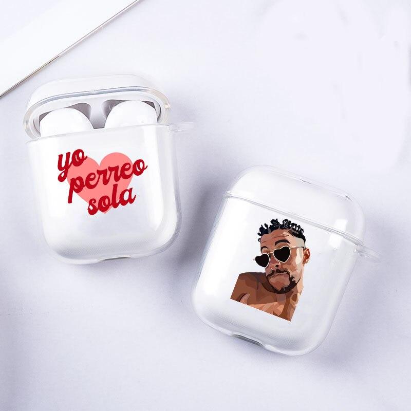 Yo Perreo Sola Bad Bunny Maluma auricular caso para Airpods 1 2 caso inalámbrico auriculares accesorios suave TPU cubierta Funda Coque