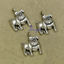 25pcs/lot--17x13mm, Antique silver plated Dog bulldog charms,DIY supplies,Jewelry accessories(China)