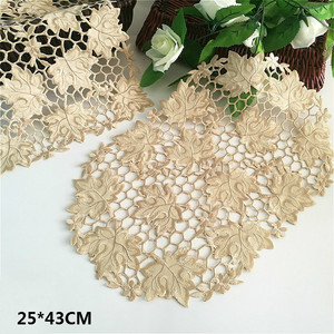 Delicate Gold Hollow Placemats For Table Drink Mat Dish Pad Coaster Set Lace Napkins Decorative Tea Towels Individual Tablecloth(China)