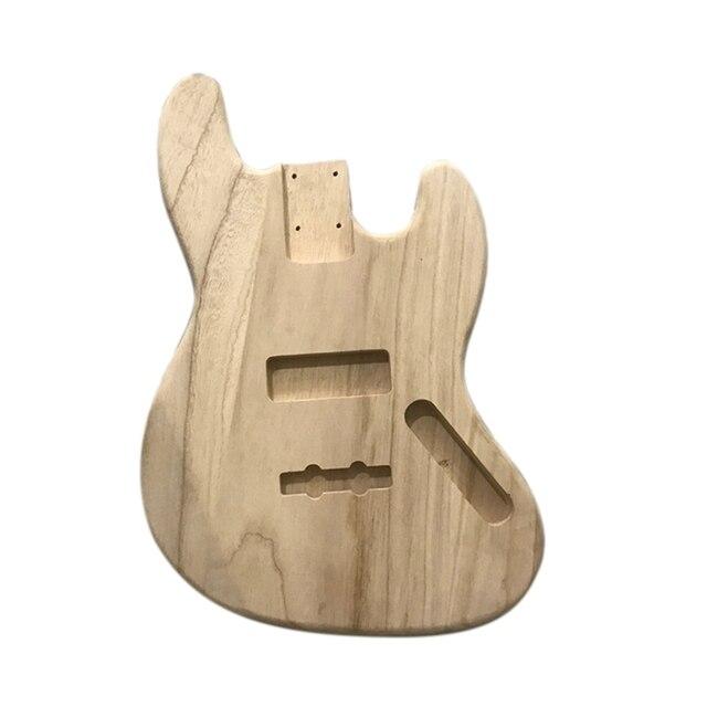 未完エレキギター本体木材空白ギターバレルjbスタイルエレキギターdiyパーツ