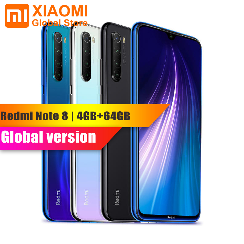 Version mondiale Xiaomi Redmi Note 8 4 go RAM 64 go ROM téléphone portable Octa Core charge rapide 4000mAh batterie 48MP appareil photo Smartphone