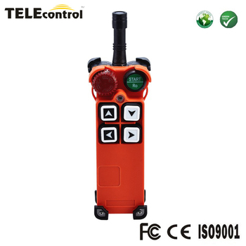 telecontrol F21-4S  4 single speed pushbuttons cordless industrial electric hoist crane radio remote control switch transmitter