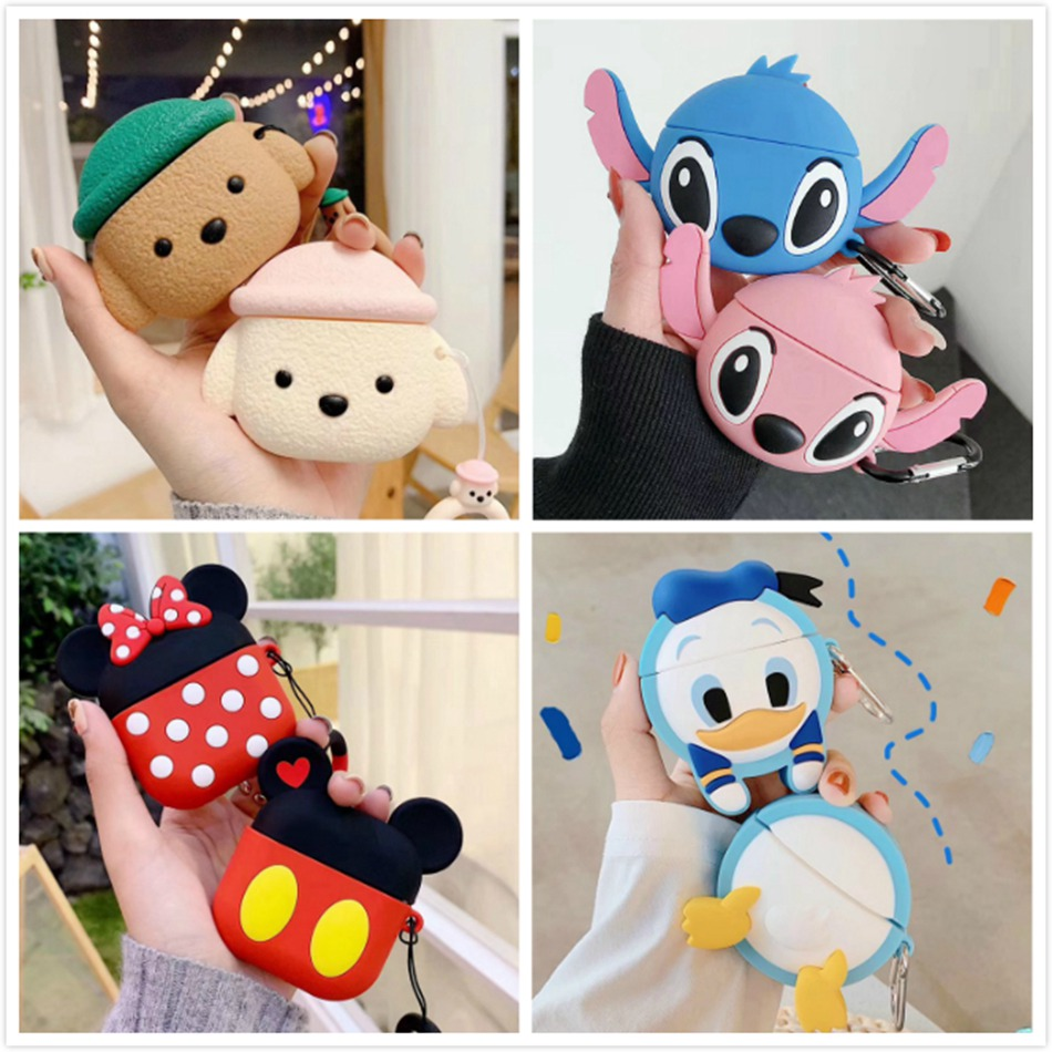 Headphone Case For Huawei Freebuds 3 Case Cute Cartoon Silicone 3D Earphone Cover For Huawei Freebuds 3 Pro Case With Keychain