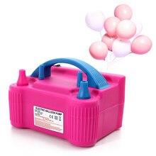 Pompa powietrza balonowego 110V lub 220V elektryczny, wysoki Power dwie dysze dmuchawa powietrza balon pompka inflatora szybkie przenośne nadmuchiwane narzędzie