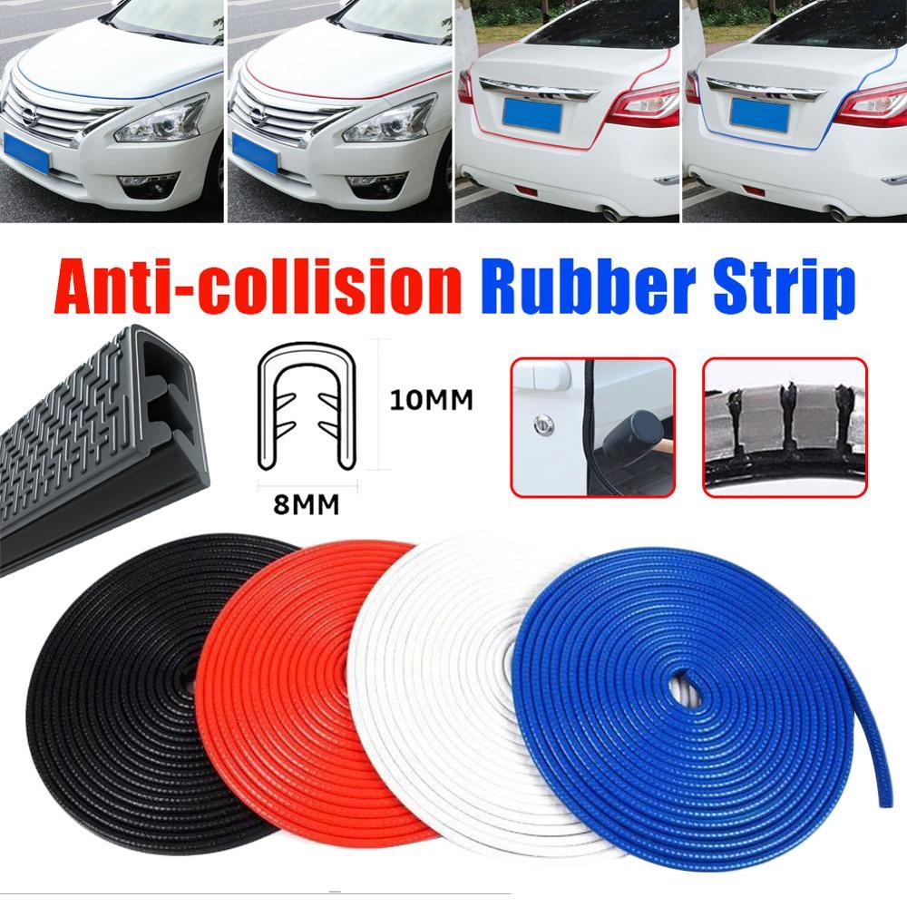 white anti-scratch rubber strip 16.4ft U-shaped rubber sealing strip car door edge protection car decoration strip 5M