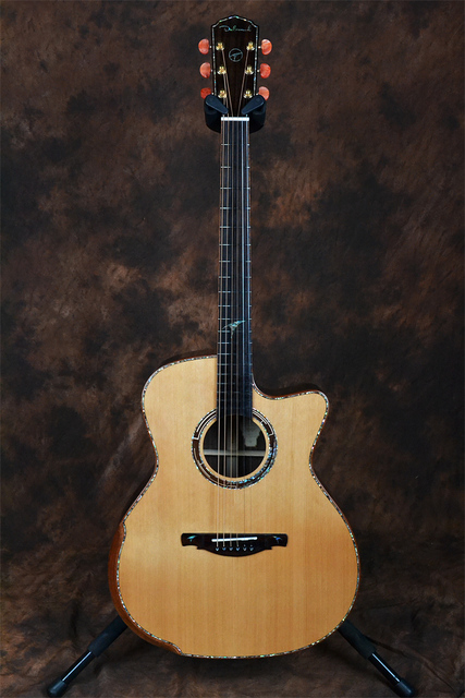Dadarwood TR3100C handmade red pine solid top, rosewood solid sides and back, 41cutaway acoustic guitar 1