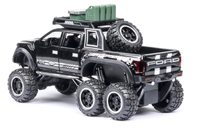 Image 4 - 1:32 Big Pick Up Model Toy Car For Ford F150 Raptor Sound Light Sliding Car With Motorcycle For Kids Toys Gifts Free Shipping