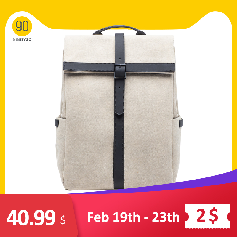 NINETYGO 90FUN Grinder Oxford Casual Backpack 15.6 Inch Laptop Bag British Style Daypack For Men Women School Boys Girls