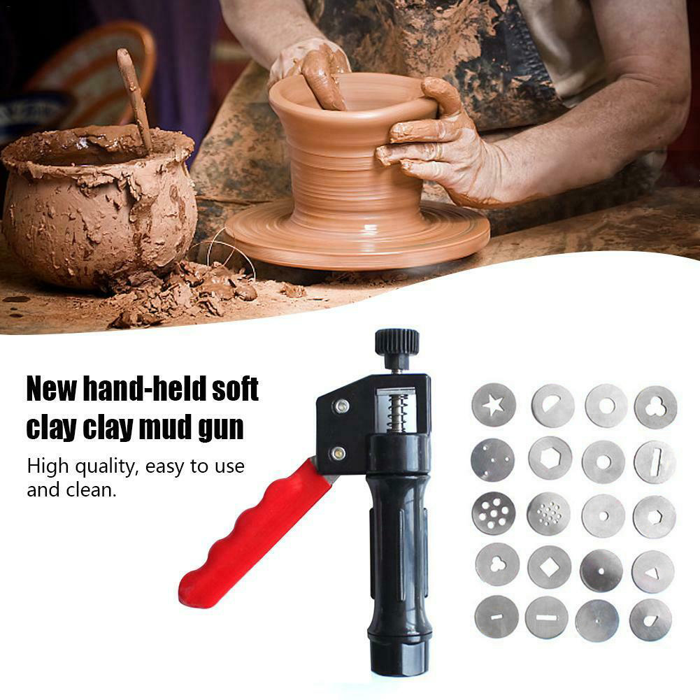 Hand-held Clay Extruder Soft Clay Mud Squeezer With 20 Different Nozzles Biscuit Cake Decorating DC156