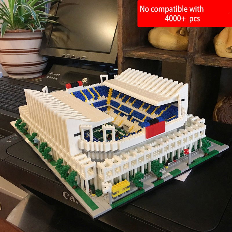 World Great Football No compatible legoed stadium Field building kit mini nanoed micro block Brick architecture Club Cup kid Toy-in Blocks from Toys & Hobbies