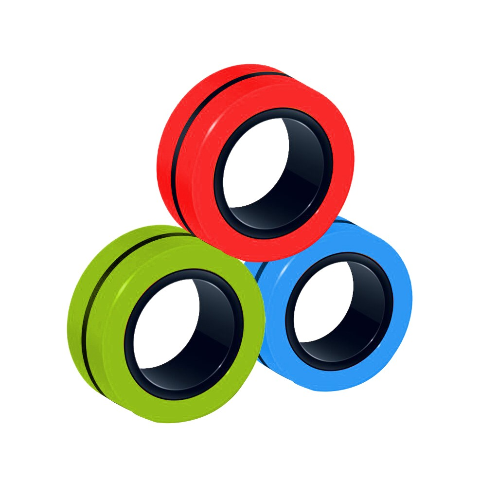 Ring-Props-Tool Fingertip-Toys Magnetic-Rings Decompression Anti-Stress ADHD Anxiety Relief img4