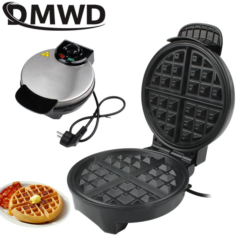 DMWD Electric Eggs Waffle Maker Multifunction Breakfast Crepe Baking Machine MINI Muffin Grill Egg Cake Oven Bakeware EU Plug