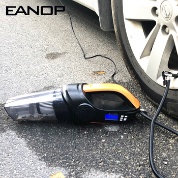 EANOP Car Compressor Digital LCD 12V Electric Tyre Inflator Pump & Vacuum Cleaner 3M Cable Tire Guage