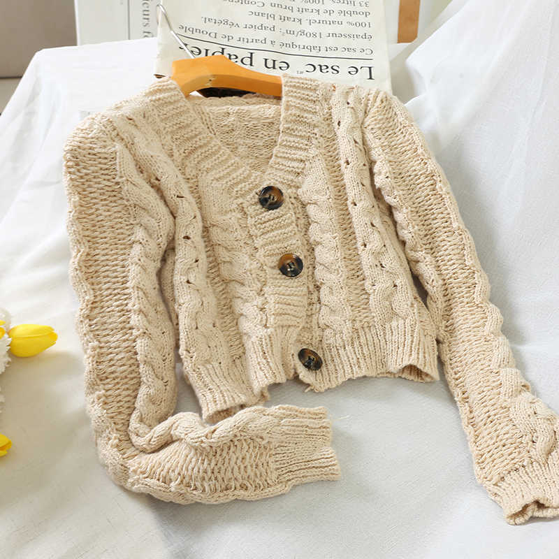 2020 Autumn Fashion Short Cardigan Sweet Pink Hollow Out Knitted Cardigans Coat Sweater Korean Woman Crochet Crop Top PZ2290