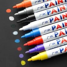 Marker-Pen Paint Permanent White 12-Colors Rubber Tread Car-Tyre Environmental Waterproof