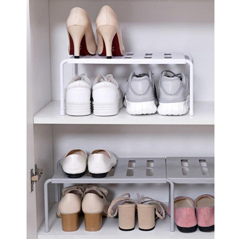 Adjustable Kitchen Storage Rack Cupboard Storage Shelf Single Layer Kitchen Organizer Wardrobe Shoe Organizers Saving Space
