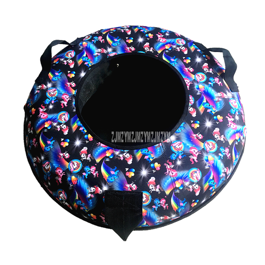 Children Skiing Ring Rubber Winter Inflatable Inner Tyre Ski Circle Kids Child Outdoor Snow Skiing Pad Board Winter Sports Tool