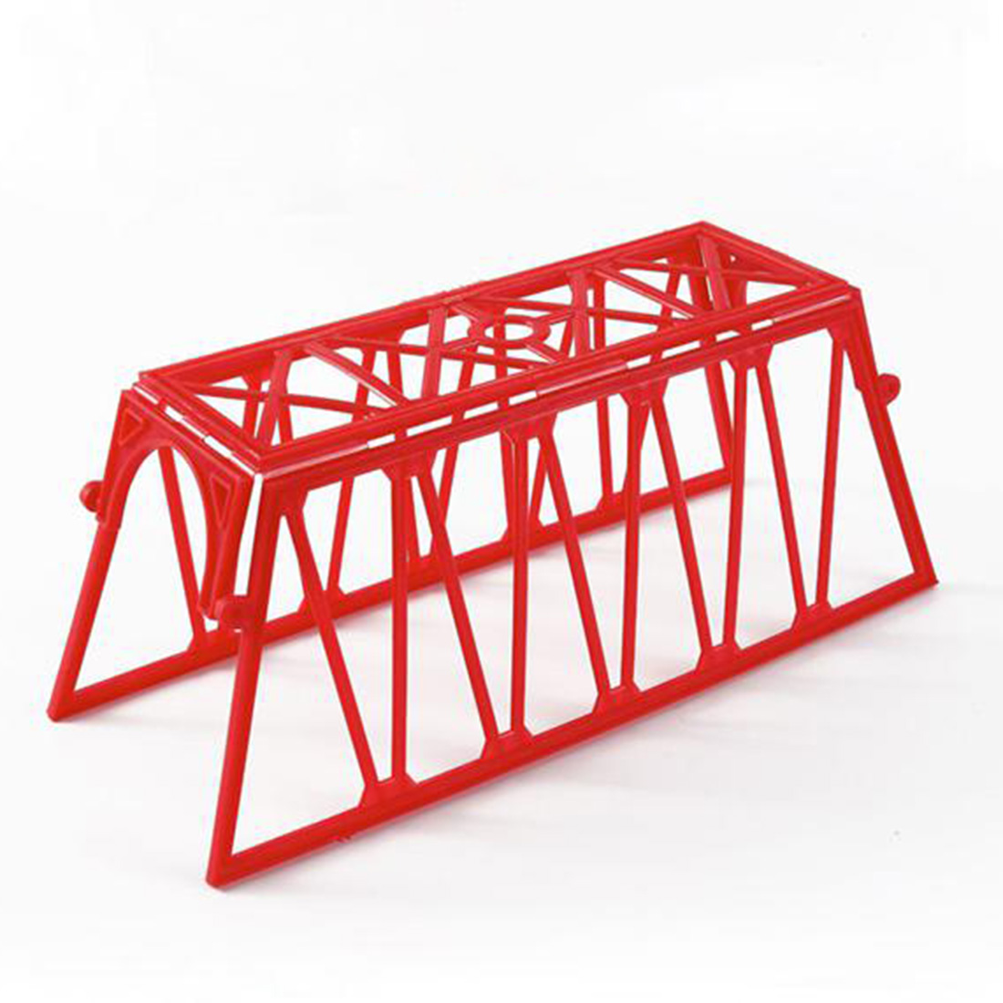 1:87 HO Scale Railway Scene Decoration Bridge Network Model For Sand Table Building Model Building Kits)- Red