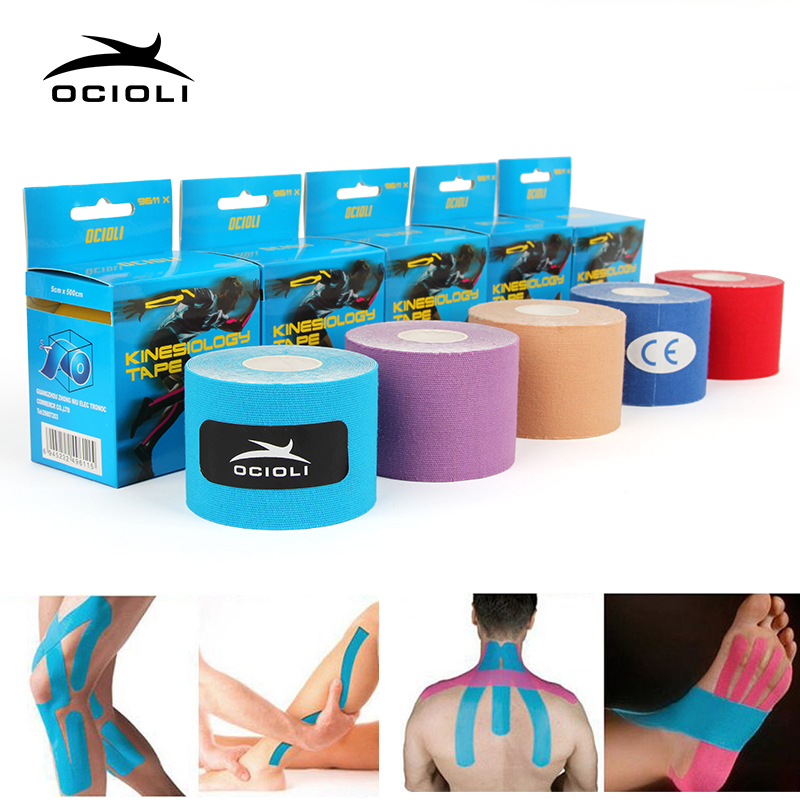 Ocioli Kinesiology Tape Fitness Athletic Sport Strapping Football Muscle  Strappin Rocktape Knee Brace Support