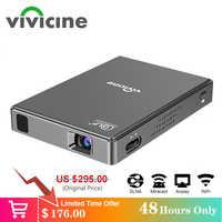 Vivicine T10 Android 7.1 OS Pico Mini Projektor, HD Tragbare Micro WIFI Bluetooth DLP Mobilen FÜHRTE Projektor mit Batterie