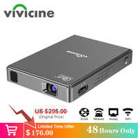 Vivicine T10 Android 7.1 OS Pico Mini projecteur, HD Portable Micro WIFI Bluetooth DLP Mobile projecteur LED avec batterie
