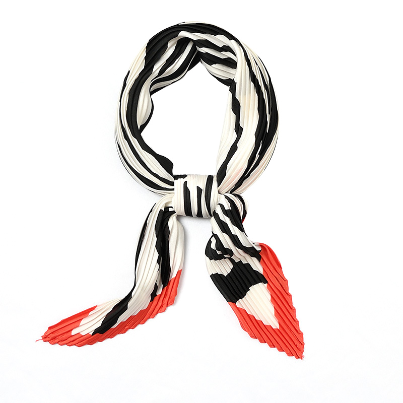 2020 Fashion Women Pleated Sexy Print Silk Scarf Casual Simple Wild Foulard Ladies Scarves Cachecol  Scarfs for Ladies