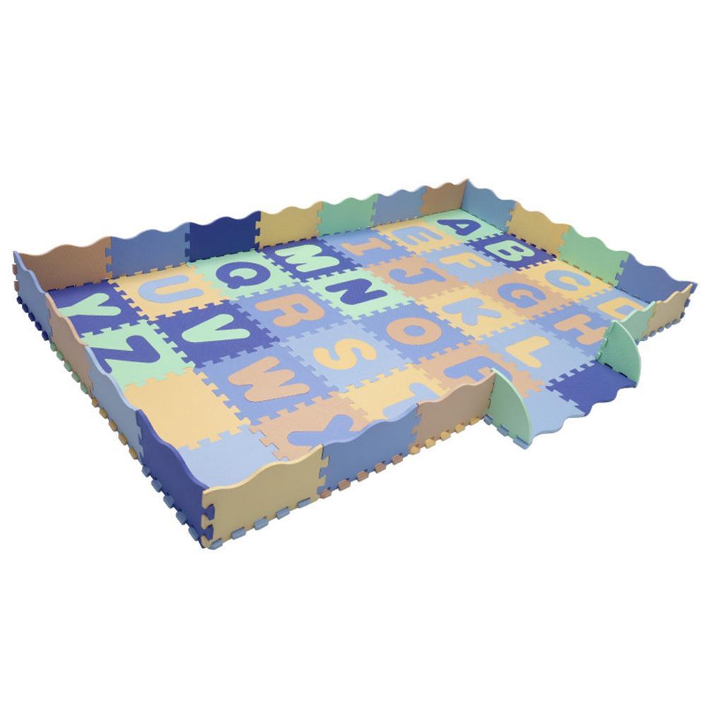54 pièces motif Animal mousse Puzzle enfants tapis tapis Split Joint EVA bébé jouer tapis intérieur doux activité Puzzle tapis