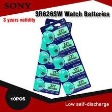 10 pces sony 1.55 v ag4 bateria sr626 377 lr626 lr66 sr66 sr626sw 3777a botão pilha relógio moeda g4 baterias para gadgets relógios