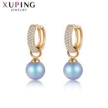 Xuping Jewelry pendientes de perlas de imitación estilo salvaje, joyas románticas, cristales de Swarovski, regalos para el Día de San Valentín M85 20447