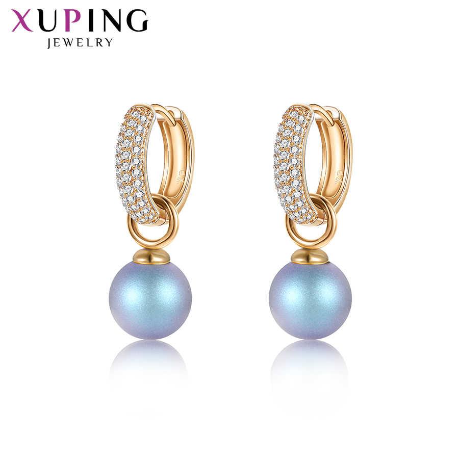 Xuping bijoux romantique Imitation perle boucles d'oreilles Style sauvage cristaux de Swarovski exquis saint valentin cadeaux M85-20447