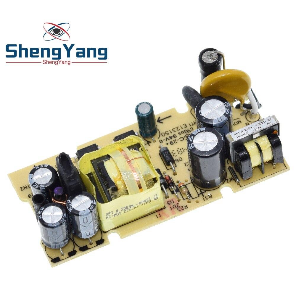 ShengYang, 1 шт., AC-DC 5 В, 2 А, 2000 мА, модуль источника питания для замены, ремонта светодиодный светодиодная плата источника питания