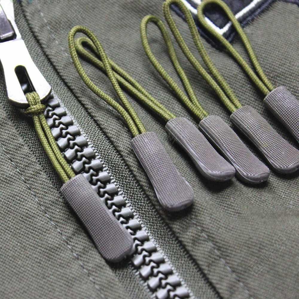 10PCs Zipper ดึง PULLER End Fit เชือก: Fixer สายซิป TAB เปลี่ยนคลิปเครื่องมือกลางแจ้งสำหรับกระเป๋าเดินทางกระเป๋าเดินทางเต็นท์กระเป๋าเป้สะพายหลัง