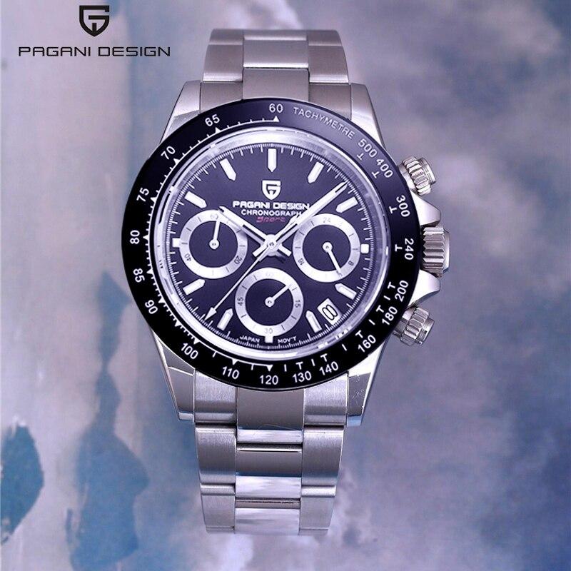 Pagani design 2019 novos relógios masculinos de quartzo relógio de pulso dos homens relógios de topo da marca de luxo masculino cronógrafo relogio masculino