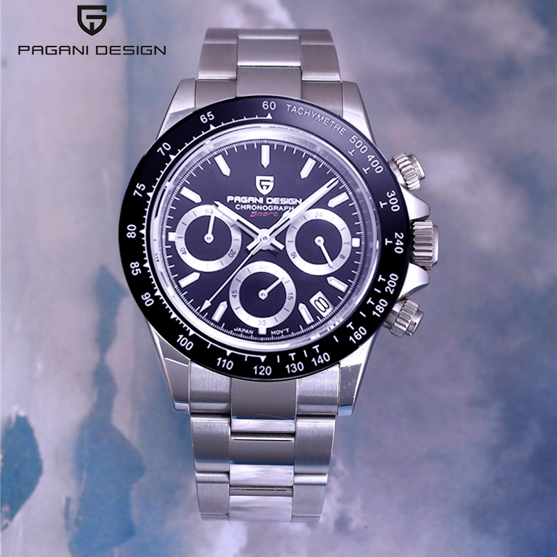 PAGANI DESIGN 2020 New Men's Watches Quartz Business Watch Mens Watches Top Brand Luxury Watch Men Chronograph VK63 Reloj Hombre