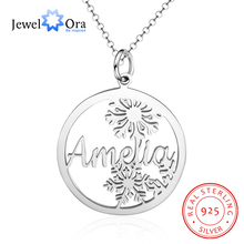 925 Sterling Silver Personalized Snowflake Name Necklaces Pendants Customized Nameplate Letter Necklace Christmas Gifts for Mom