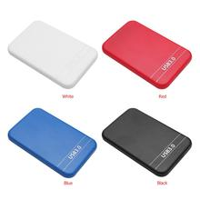 2.5 inch SATA 2 to USB 3.0 HDD SSD Case Enclosure External Hard Disk Box for Laptop Black Blue disco duro externo case