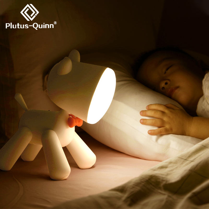 2020 Pup Led Night Lamp For Children 1200mAh Rechargable ELK Night Lights Adjust Brightness Table Lamp For Home In Bedroom