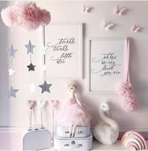 Decoración del hogar para niños, tienda de campaña con colgante arcoíris de fieltro y estrellas, accesorios de fotografía con sonrisa