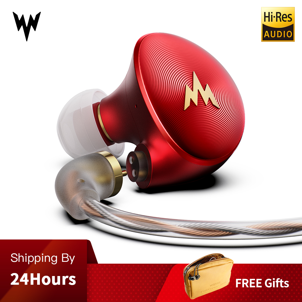 Whizzer A HE03 Juicy Bass Earphone HiFi Hi Res Headset Dynamic Hybrid 2 Knowles Armature Clear