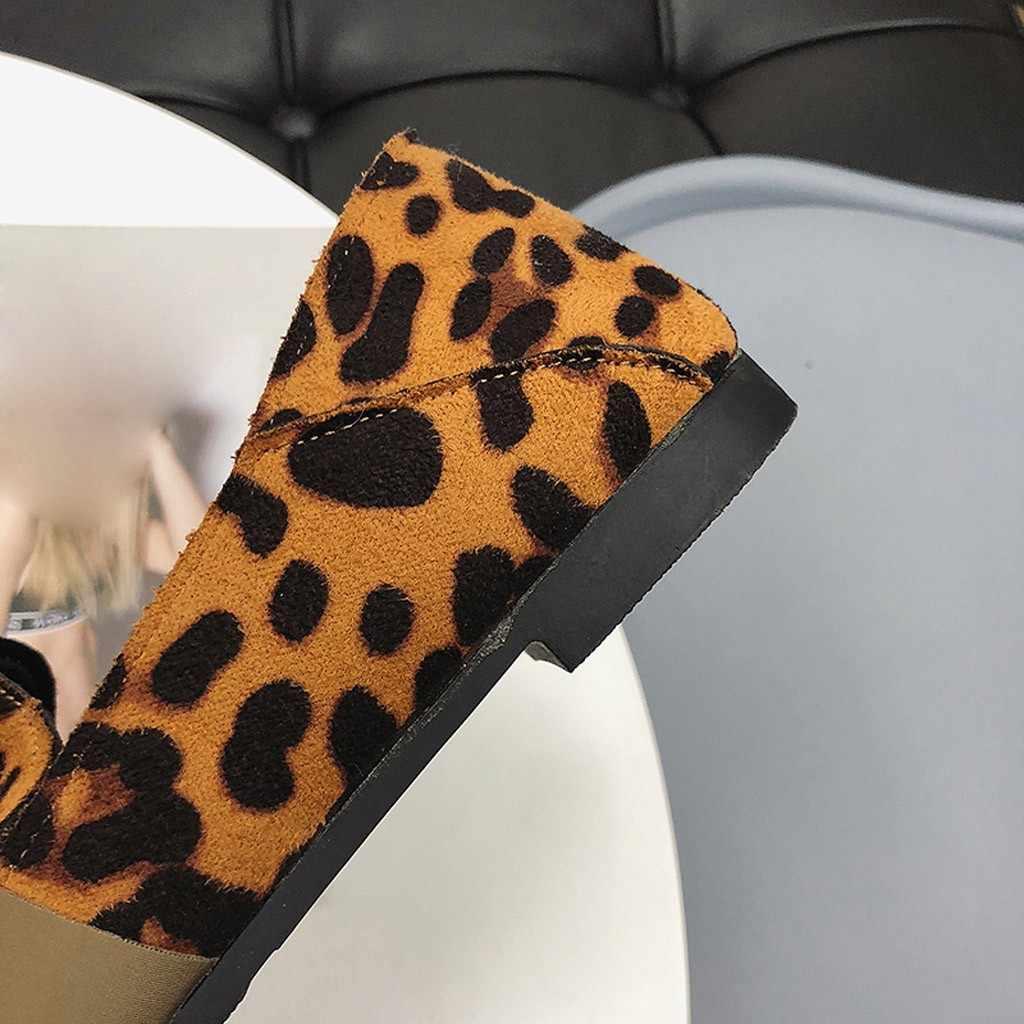 2019 marca clássica apartamentos sapatos casuais feminino bowknot mocassins sexy leopardo oxford deslizamento em mocassins calçados de couro feminino #3