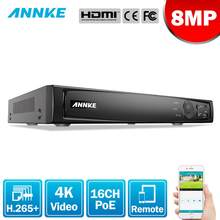 ANNKE-Grabadora de vídeo de red NVR para cámara POE IP, dispositivo de grabación de vídeo de red 4K de 8MP, NVR POE, P2P, función de nube, Plug And Play, 16 canales