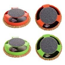 Интерактивная игрушка для кошек, Лови плюшевую мышь, пластиковая противоскользящая дисковая игрушка для питомцев, игрушка для котенка, нак...