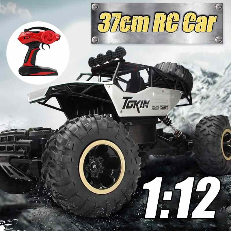 Large 37cm 4WD RC Cars Updated Version 2.4G Radio Control RC Cars Toys Buggy~High speed Trucks Off-Road Trucks Toys for Children