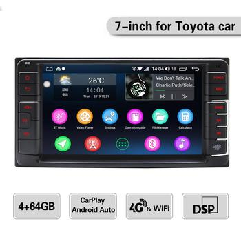 JOYING Android 8.1 car radio player 4GB RAM GPS Navigation Octa Core fast boot&4Gsupport Reverse camera for Toyota corollar/RAV4