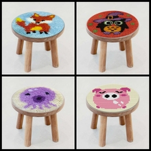 Pulaqi Cartoon Animals Button Package 27*27cm Latch Hook Cat Rug Kits DIY Needlework Unfinished Crocheting Embroidery Carpet