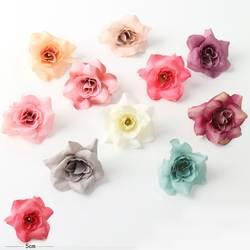 Напрямую от производителя продажа сырой шелк имитация цветов 5 см DIY шестиугольная Роза пермант Свадебная гирлянда соломенная шляпа